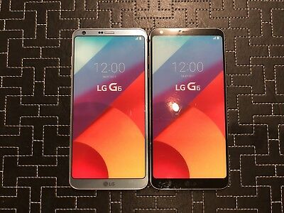 Lot Of 2 - LG G6 x2 Dummy Phone - Non-working - Toy Display - Black & Silver