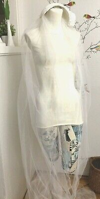 Vintage 40's Wedding Bianchi Boston with Long Veil Floral