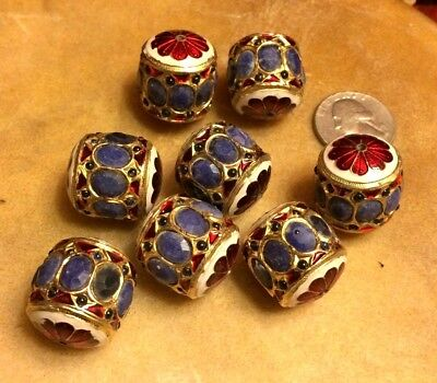 Collectible Exotic Lapis Lazuli Enameled Hand-Made Bead Large Focus Bead 1 Pc