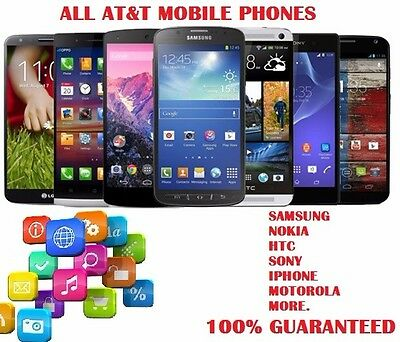 At&t Unlocked all At&t phones Samsung, Nokia, Htc, Iphone, Motorola and More