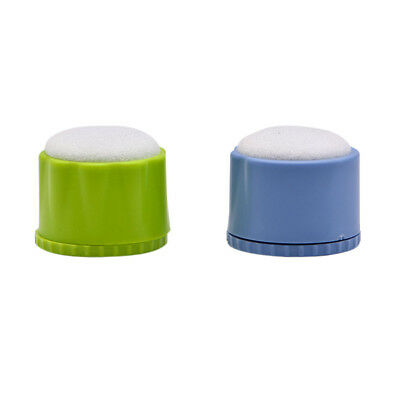 Dental File Disinfection Acupuncture Cleaning Box Round Endo Stand Green+Blue