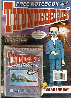 Thunderbirds Comic No.2 Brains Cover - Free notebook attached - 1999