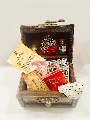 Harry Potter Trunk Filled With Miniatures ONE DAY SHIPPING