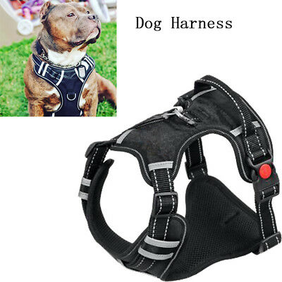 Big Dog Harness No Pull Adjustable Pet Reflective Oxford Soft Vest for Large Dog