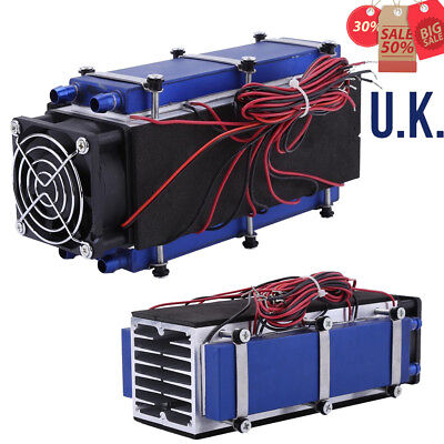 12V Thermoelectric Peltier Refrigeration Cooling System Cooler Fan DIY Low Noise