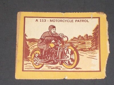 ARMY, NAVY, MARINES - R3 LEADER NOVELTY CANDY CO.  Army A113 Motorcycle Patrol