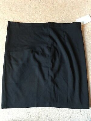 Jojo Maman Bebe Maternity Skirt Size 14 Black Tailored Mini Skirt New With Tags