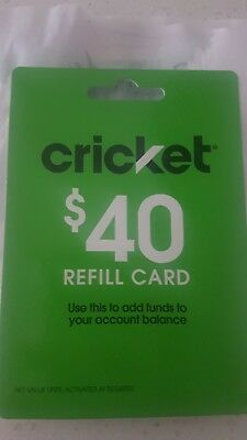 Cricket Wireless $40 Refill Top Up Recharge Airtime Electronic Pin