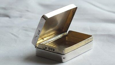Solid Silver Snuff Box London 1912 by Edward & Sons