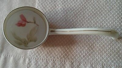 Vintage Nippon Hand Painted Condiment Ladle Spoon ~ Green Crown circa 1891-1921