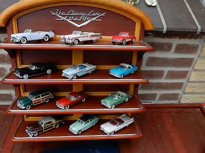 Franklin Mint  The Classic Cars of the Fifties  Komplett mit Regal 1:43