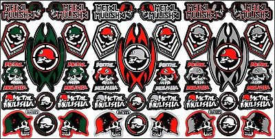 New decal sticker for metal mulisha 3 sheets ST16 car motorcycle atv bike racing