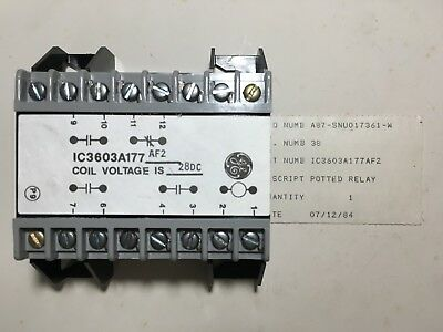 General Electric/Fanuc IC3603A177 AF2 28VDC Potted Relay NOS