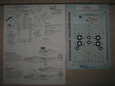 Decals , P-38 F , 1:48 , SuperScale 48-476
