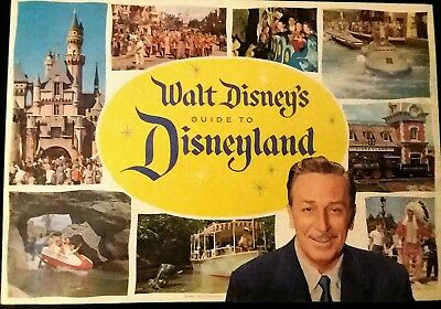 Vintage,Rare1960 GuideToDisneyland Color Brochure By Walt Disney