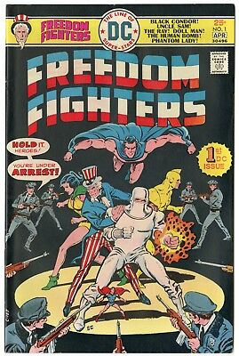 Freedom Fighters #1 VF/NM 9.0 ow/white pages  DC  1976  No Reserve