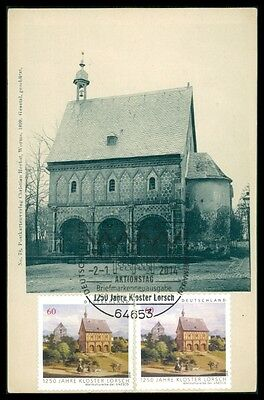 BRD MK 2014 KLOSTER LORSCH ABBEY MAXIMUMKARTE UNIKAT !! MAXIMUM CARD MC CM bp01