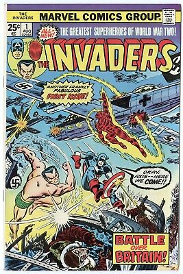 Invaders #1 VF/NM 9.0 ow/white pages  Marvel  1975  No Reserve