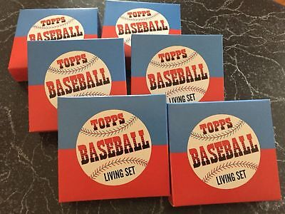 2018 Topps Baseball Living Set Empty Box Foam and Case (*Lot Of 9*) NO CARDS