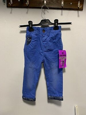 Girls Blue Trousers Size 2-3 Years New With Tags
