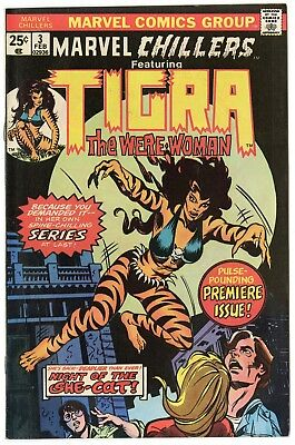 Marvel Chillers #3 VF/NM 9.0 ow/white pages  Tigra begins  1976  No Reserve