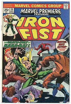 Marvel Premiere #19 FN- 5.5 ow/white pages  Iron Fist  1974  No Reserve