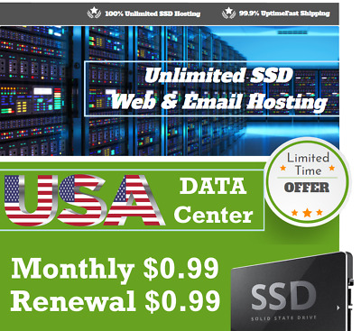 Limited Offer!! Unlimited SSD Web Hosting - Monthly $0.99 - Renewal $0.99 - 24/7