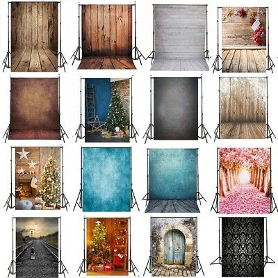 5X7FT Vinyl Studio Muslin Photography Backdrops Photo Stand Background Props Kit