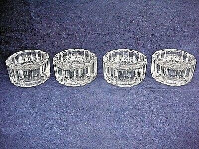 Vintage Set of 4  Solid Clear Glass Piano Insulators, Castor, Foot, Isolator.