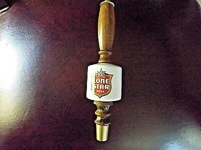 LONE STAR draft beer tap Wood  handle Three Day Auction