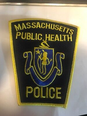 Vintage Massachusetts Dept. Of Public Health Police  Embroidered Patch Boston MA