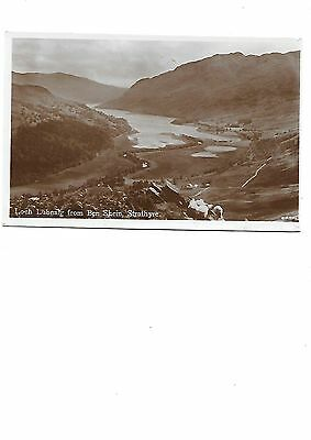 STRATHYRE Loch Lubnaig from Ben Shein Early RP Stirlingshire Postcard