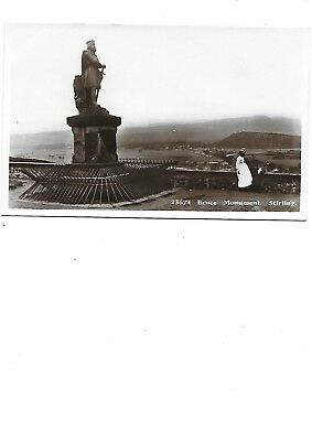 STIRLING Postcard Bruce Monument Early RP 'Darling' Message on back!