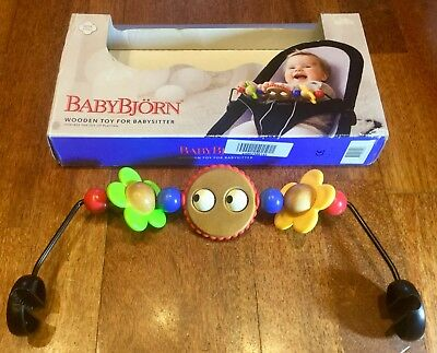 Swedish Baby Björn Bouncer Wooden Toy For BabySitter, Toy Bar In Original Box