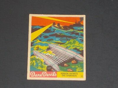 1936 R39 National Chicle, Dare Devils #12, VERY NICE CARD!!!!