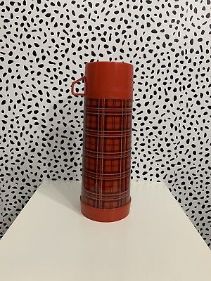 Aladin Thermos Vintage Plaid Lumberjack Picnic Excellent