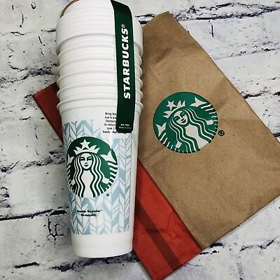 Starbucks Reusable Cup Limited Holiday Collection Tumbler 16 oz - 6 Pack New!