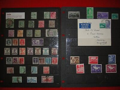 Job Lot Of Old India And India War Stamps - 1882 - 1949 ~Victoria~Edward Vii~Geo