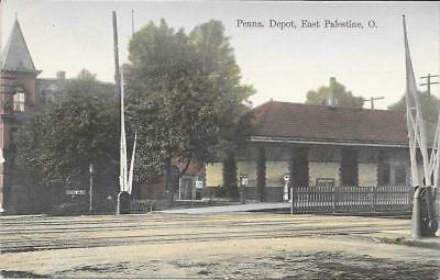 East Palestine OH , Railroad Depot for Penna Railroad, near mint condition