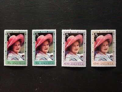 ANGUILLA 1980 80th BIRTHDAY OF THE QUEEN MOTHER MNH SET OF 4