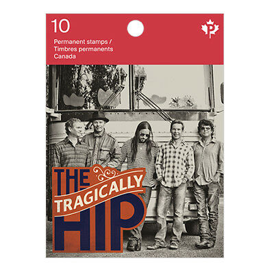 The Tragically Hip GORD DOWNIE Booklet of 10 Canada Post Stamps