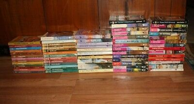 64 VINTAGE HARLEQUIN ROMANCE BOOKS 1970's, 80's AND 90's
