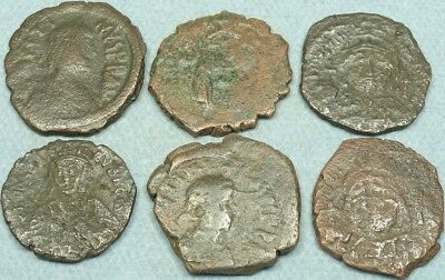 Lot Of 6 Large Byzantine Bronze Coins