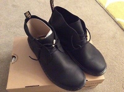 7c8474678c9 DR MARTENS EMBER Softwair Mens 2-Eyelet Leather Chukka Boots Black size 11  UK