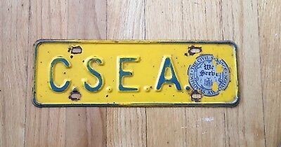 1950 New York License Plate Civil Service Employee Association Union Booster Top