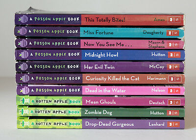 Lot of 10 POISON APPLE & ROTTEN APPLE Series Matched Set of Chapter Books