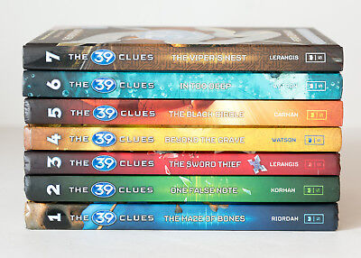 Lot of 7 (#1-7) THE 39 CLUES Series Matched Starter Set of HARDCOVER Books
