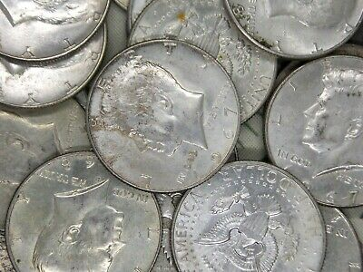 1965 - 1969 Roll of $10 Face Value (20 Coin) 40% Silver Kennedy Half Dollars
