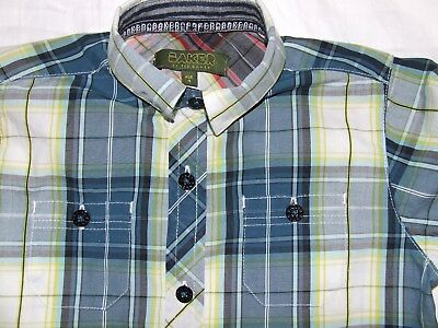 Boys Ted Baker blue yellow shirt age 4 years Excellent condition!