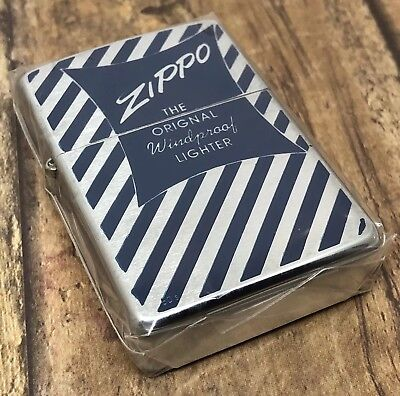 1997 Zippo Lighter - 1950's Vintage Box Top Design - 356 out of 1000 - Unfired